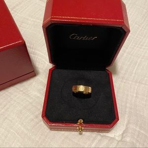 Rose gold Cartier love ring 53 (size 6.5)